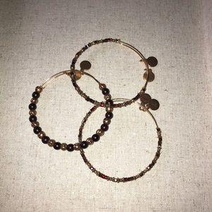 Set of 3 beaded Alex and Ani bracelets